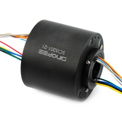 240V 250rpm 25.4mm through bore slip ring